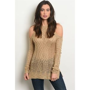 Cold Shoulder Cutout Long Sleeve Sweater